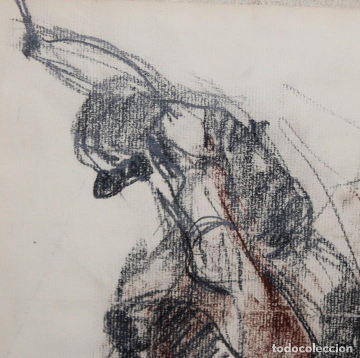 Arte: BLANCA VERNIS DOMENECH (Barcelona, 1961) DIBUJO A CARBON FIRMADO DEL AÑO 1985. REAL CLUB DE POLO - Foto 4 - 234104260