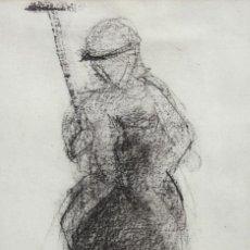 Arte: BLANCA VERNIS DOMENECH (BARCELONA, 1961) DIBUJO A CARBON FIRMADO DEL AÑO 1987. REAL CLUB DE POLO. Lote 234105650