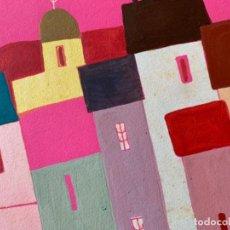 Arte: GOUACHE FIRMADO AGUILAR MORE, FELICITACIÓN CON DEDICATORIA, 1958, 22X18,5 CM. Lote 234376150