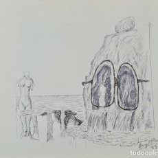 Arte: ABSTRACTO. ANGEL PLANELLS. DIBUJO A TINTA SOBRE PAPEL. 1987.. Lote 234483950