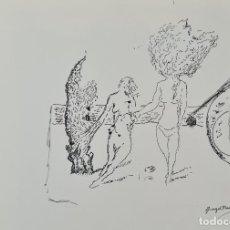Arte: ESCENA ABSTRACTA. ANGEL PLANELLS. DIBUJO A TINTA SOBRE PAPEL. 1985.. Lote 234498740