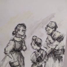 Arte: FAMILIA DE PUEBLO (ORIGINAL). Lote 234510170