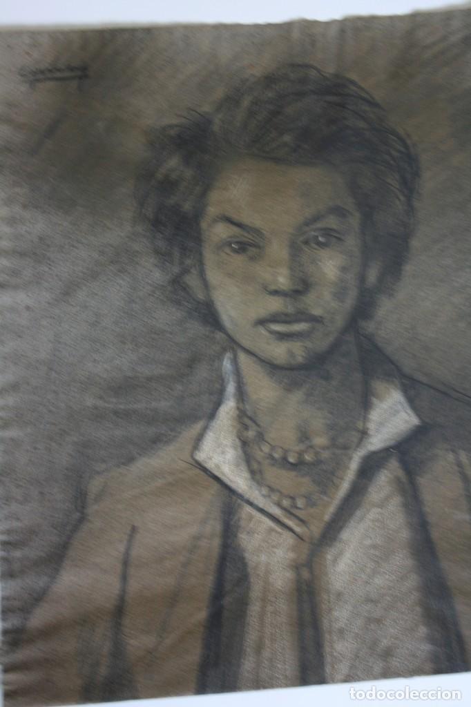 Arte: RAMÓN DE CAPMANY Y MONTANER (1899 - 1992) EXCELENTE RETRATO DE 1920-30. OBRA TENPRANA. - Foto 2 - 234516490