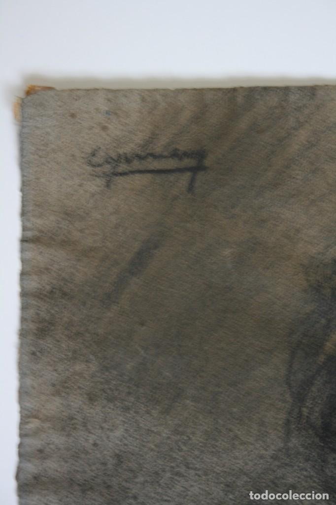 Arte: RAMÓN DE CAPMANY Y MONTANER (1899 - 1992) EXCELENTE RETRATO DE 1920-30. OBRA TENPRANA. - Foto 4 - 234516490