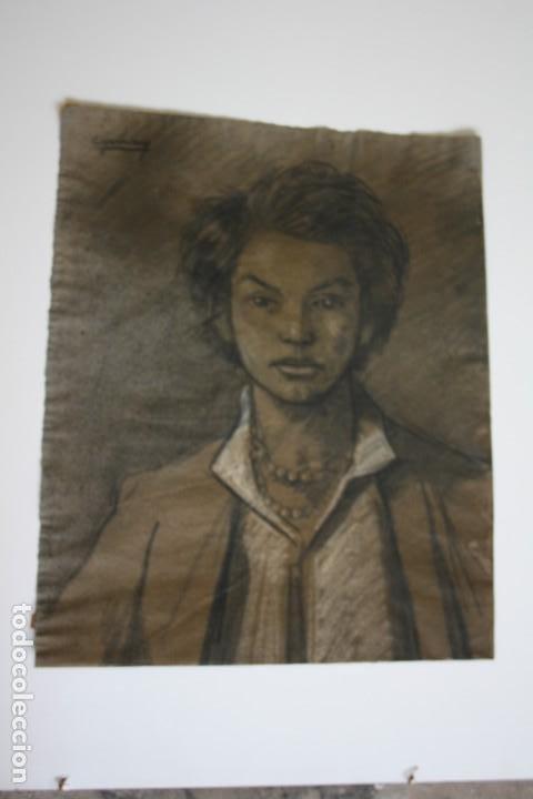Arte: RAMÓN DE CAPMANY Y MONTANER (1899 - 1992) EXCELENTE RETRATO DE 1920-30. OBRA TENPRANA. - Foto 5 - 234516490