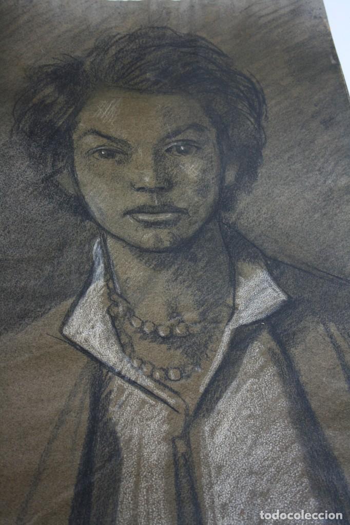 Arte: RAMÓN DE CAPMANY Y MONTANER (1899 - 1992) EXCELENTE RETRATO DE 1920-30. OBRA TENPRANA. - Foto 6 - 234516490