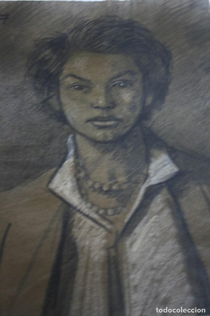 Arte: RAMÓN DE CAPMANY Y MONTANER (1899 - 1992) EXCELENTE RETRATO DE 1920-30. OBRA TENPRANA. - Foto 7 - 234516490