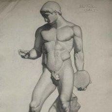 Arte: CARBONCILLO ACADEMICO. ESCUELA FRANCESA. SIGLO XIX. FIRMADO. Lote 234623370