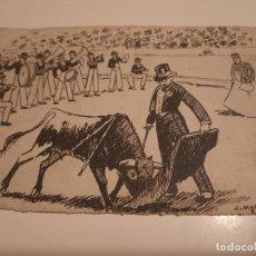 Arte: J.MARTINEZ ROCA.LAMIMA PINTADA EN BLANCO Y NEGRO. Lote 234768945