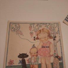 Arte: LAMINA PINTADA .FIRMADO MR.1924. Lote 234770700