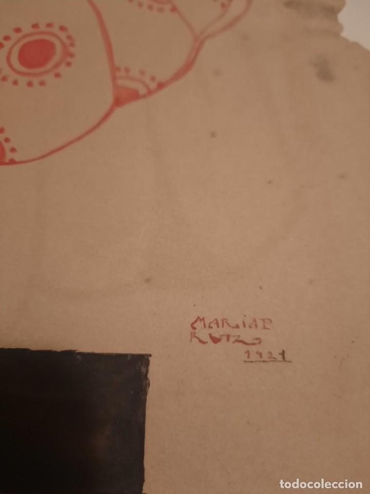 Arte: Lamina pintada .firmada.1921 - Foto 2 - 234771165