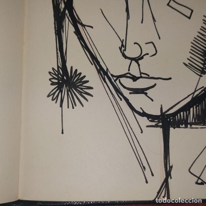 Arte: RETRATO -.DEDICATORIA. FIRMADO JORDI ALUMÁ. TINTA SOBRE PAPEL. ESPAÑA. CIRCA 1950 - Foto 3 - 234903480