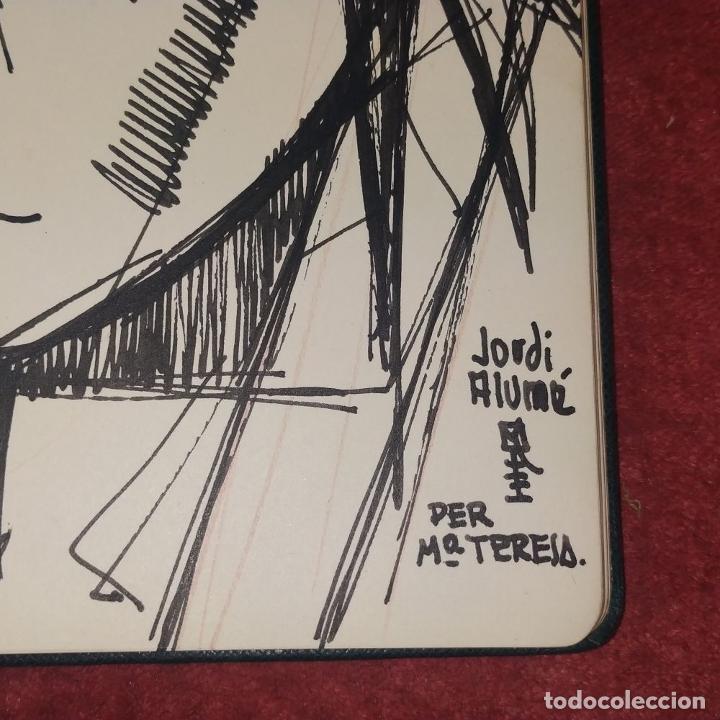 Arte: RETRATO -.DEDICATORIA. FIRMADO JORDI ALUMÁ. TINTA SOBRE PAPEL. ESPAÑA. CIRCA 1950 - Foto 5 - 234903480