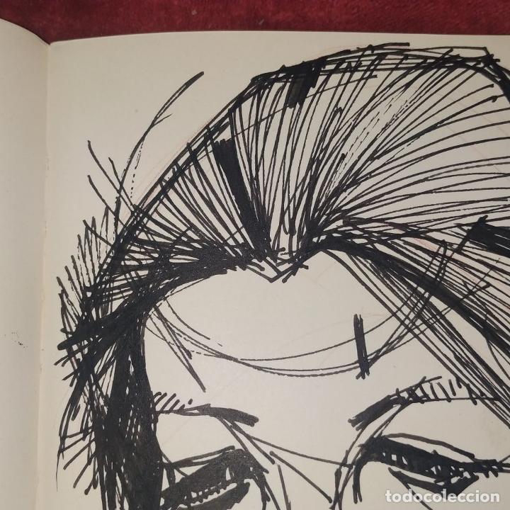 Arte: RETRATO -.DEDICATORIA. FIRMADO JORDI ALUMÁ. TINTA SOBRE PAPEL. ESPAÑA. CIRCA 1950 - Foto 6 - 234903480