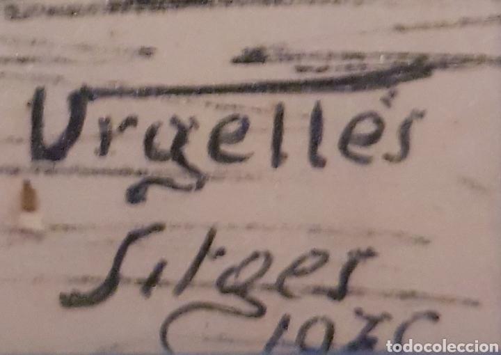 Arte: Dibujo de Sitges , firmado Urgelles - Foto 2 - 234914710