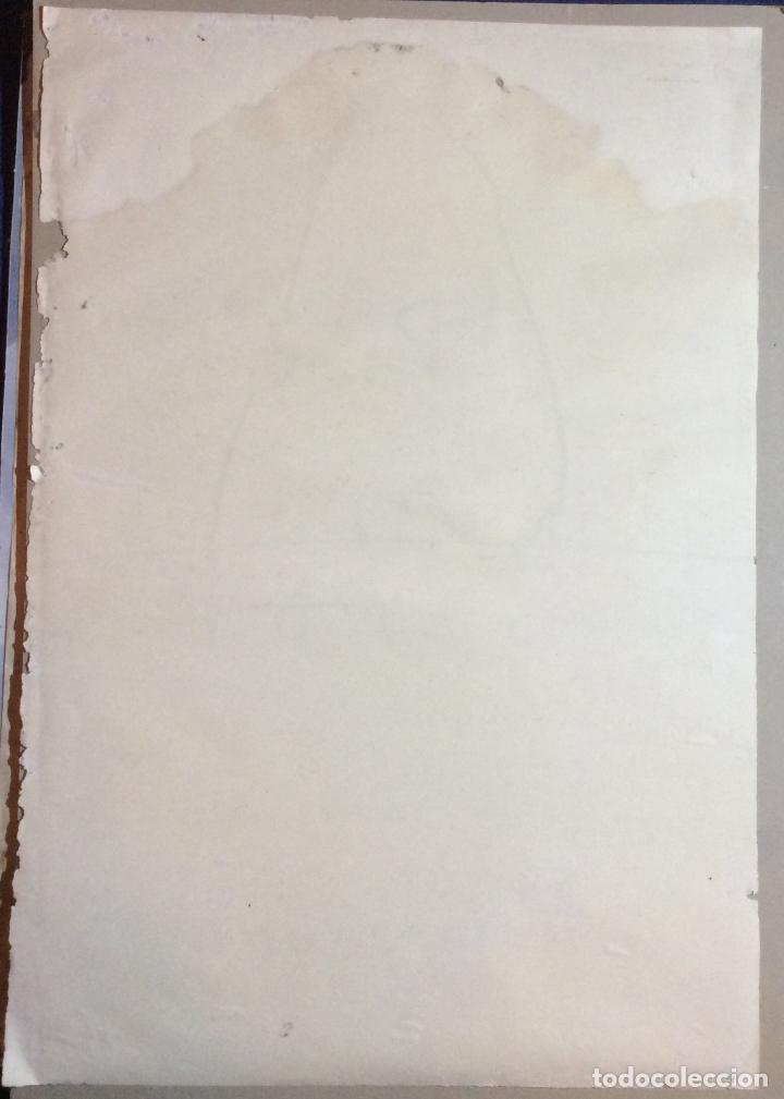 Arte: ANTONIO SAURA ,OBRA ORIGINAL CARTEL EXPOSICIÓN CENTRO DE ARTE M 11 ,AÑO 1973 -Medidas 72x50 cm - Foto 2 - 234938465