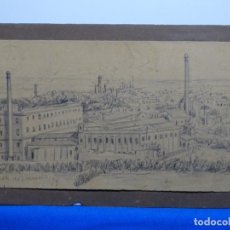 Arte: EXCELENTE DIBUJO DE SANT MARTI DE PROVENÇALS AÑO 1878. ANONIMO.. Lote 235357575
