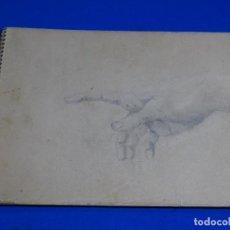 Arte: 2 CUADERNOS CON DIBUJOS PRINCIPIO SIGLO XX, ALGUNO CON FIRMA LAFITA ?. Lote 235461760