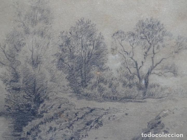 Arte: ANTIGUO DIBUJO DEL SIGLO XIX CON FIRMA ILEGIBLE. BUEN TRAZO. - Foto 2 - 235470690