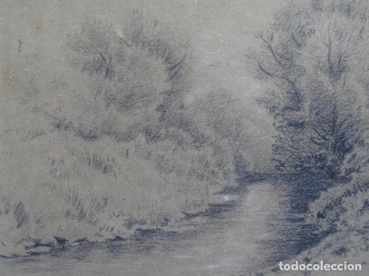 Arte: ANTIGUO DIBUJO DEL SIGLO XIX CON FIRMA ILEGIBLE. BUEN TRAZO. - Foto 3 - 235470690