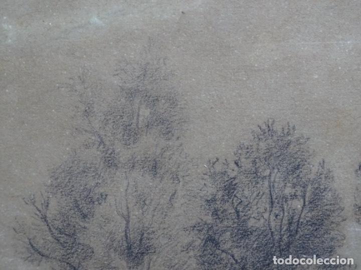 Arte: ANTIGUO DIBUJO DEL SIGLO XIX CON FIRMA ILEGIBLE. BUEN TRAZO. - Foto 5 - 235470690