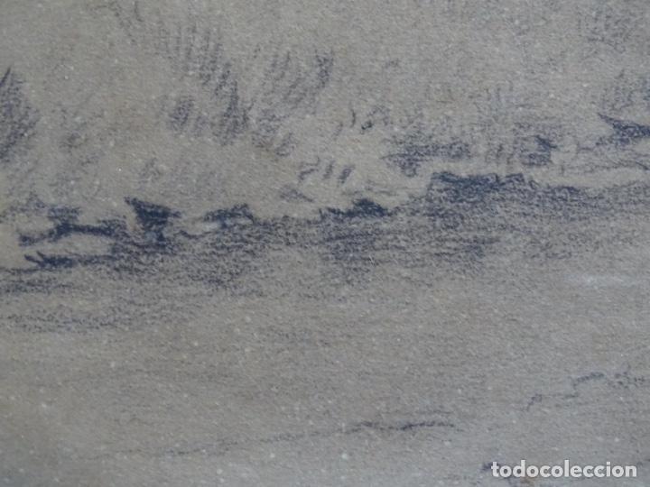 Arte: ANTIGUO DIBUJO DEL SIGLO XIX CON FIRMA ILEGIBLE. BUEN TRAZO. - Foto 8 - 235470690