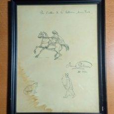 Arte: DIBUJO DE JAUME PAHISSA I JO. 1926. Lote 235841525