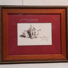 Arte: DIBUJO TAURINO DE CESAR PALACIOS 1998 ENMARCADO. Lote 235856740