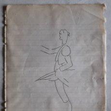 Arte: DIBUJO A PLUMILLA DE NICANOR VILLALTA. CARICATURA FIRMADA POR FRANCISCO RIVERO GIL. HACIA 1927. Lote 235944135