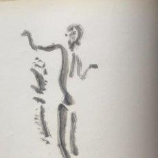 Arte: DIBUJO A TINTA DE APEL.LES FENOSA SOBRE LIBRO LA POLIGRAFA SU VIDA, SU ARTE. VENDRELL 24-7-84.. Lote 236090535