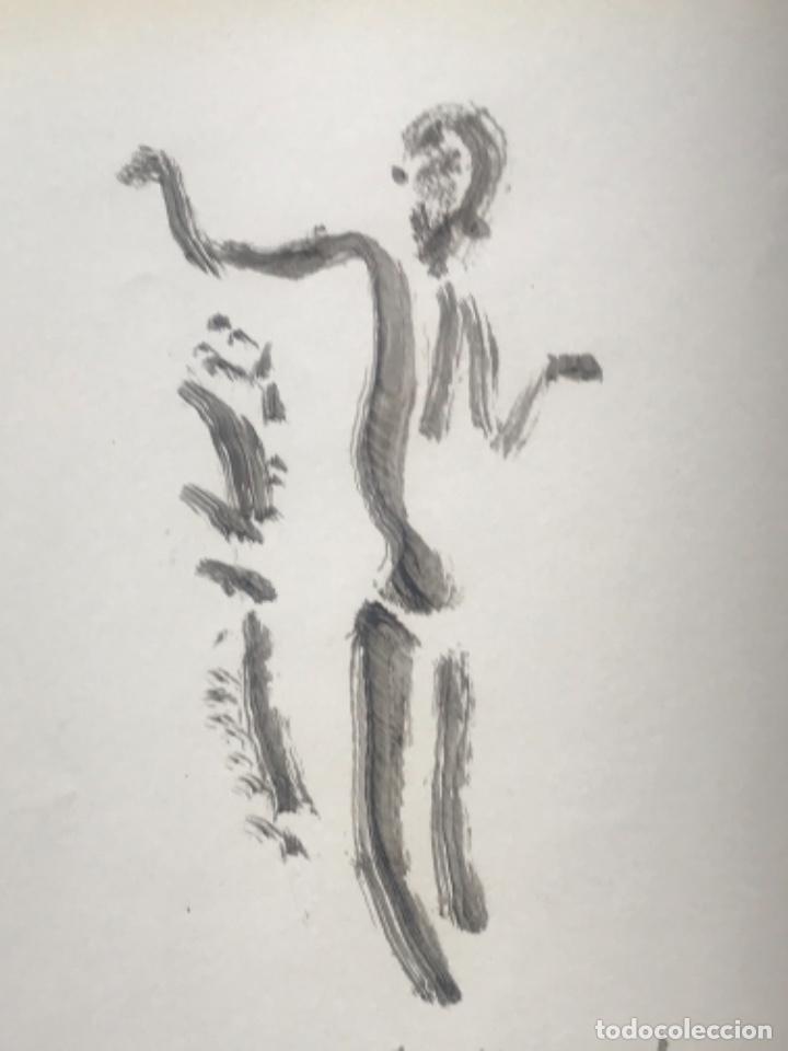 Arte: DIBUJO A TINTA DE APEL.LES FENOSA SOBRE LIBRO LA POLIGRAFA Su vida, su arte. VENDRELL 24-7-84. - Foto 2 - 236090535