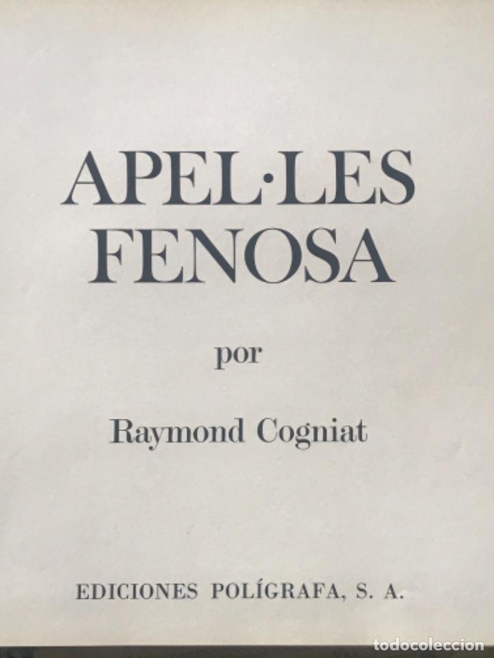 Arte: DIBUJO A TINTA DE APEL.LES FENOSA SOBRE LIBRO LA POLIGRAFA Su vida, su arte. VENDRELL 24-7-84. - Foto 3 - 236090535