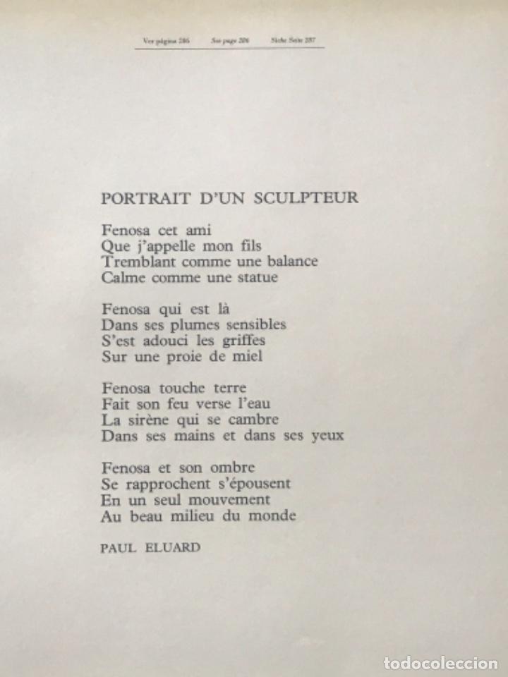 Arte: DIBUJO A TINTA DE APEL.LES FENOSA SOBRE LIBRO LA POLIGRAFA Su vida, su arte. VENDRELL 24-7-84. - Foto 5 - 236090535