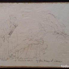 Arte: DIBUJO LAS EUMÉNIDES, 1875 / JOHN FLAXMAN. Lote 236238425