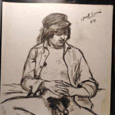 Arte: DIBUJO DE JODI SARRÁ. 1979. Lote 236249750