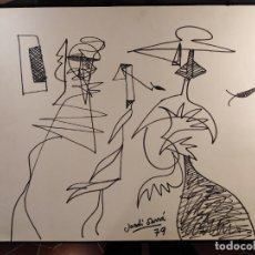 Arte: DIBUJO DE JORDI SARRÁ. 1979. Lote 236250785
