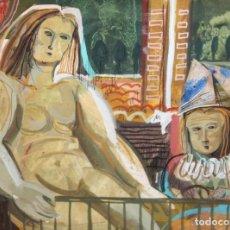 Arte: EUSTAQUI CASERO (1937) TECNICA MIXTA SOBRE CARTULINA DEL AÑO 1982. Lote 236661510