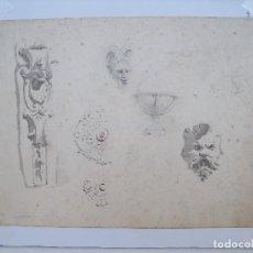 Arte: DIBUJO AL LAPIZ DE FIGURAS DECORATIVAS. Lote 236819370