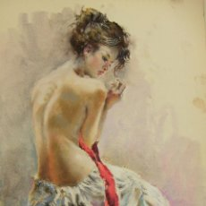 Arte: PASTEL ORIGINAL DE EMILIO CARBONELL. Lote 236880290