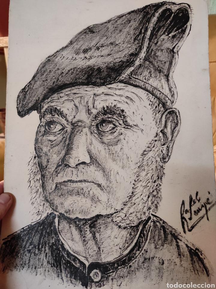 RAFEL SUNYER, DIBUJO RETRATO DE SEÑOR. ESCUELA CATALANA 25X35CM BUENA CALIDAD. (Arte - Dibujos - Contemporáneos siglo XX)