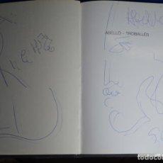 Arte: DIBUJO DE JOAN ABELLO EN LIBRO TROBALLES.JOSEP MUSATS.JOAN IRIARTE.. Lote 237768285