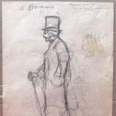 Arte: JOSÉ SEGRELLES. DIBUJO BOCETO A LAPIZ. APUNTES DEL ARTISTA SIGLO XIX PUBLICIDAD AÑOS 20. Lote 238461750
