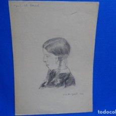 Arte: DIBUJO DE JOSEP MARÍA GARRUT I ROMA.LA ROSE DEL NATURAL.1932. Lote 238695230