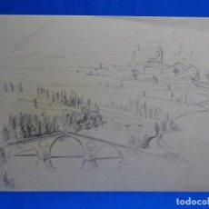 Arte: DIBUJO DE JOSEP MARÍA GARRUT I ROMA.SANT SEBASTIÀ.SAU LA VALL I EL TER.. Lote 238698695