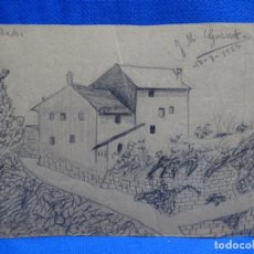 Arte: DIBUJOS DE JOSEP MARÍA GARRUT I ROMA.CAPELLADES 1927.. Lote 238699780