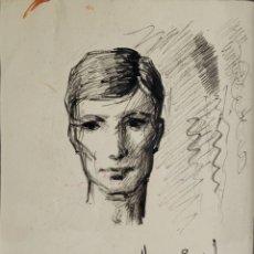 Arte: RETRATO POR HORACIO NOGUERA (ISLA CRISTINA, HUELVA 1944-2005). Lote 239795545
