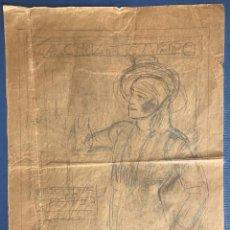 Arte: JOSÉ SEGRELLES. BOCETO ORIGINAL PUBLICIDAD CRUZCAMPO CERVEZA: LA CRUZ DEL CAMPO SEVILLA. AÑOS 20. Lote 240005855