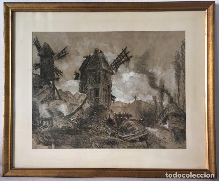 ESCENOGRAFÍA DE MAURICI VILOMARA I VIRGILI. (Arte - Dibujos - Modernos siglo XIX)