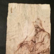 Arte: PAISANO. CÍRCULO DE LOS HERMANOS LE NAIN. FRANCIA S.XVII.. Lote 240896935