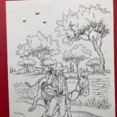 Arte: DIBUJO ORIGINAL A TINTA DE BATLLORI JOFRÉ. FIRMADO. Lote 240939825